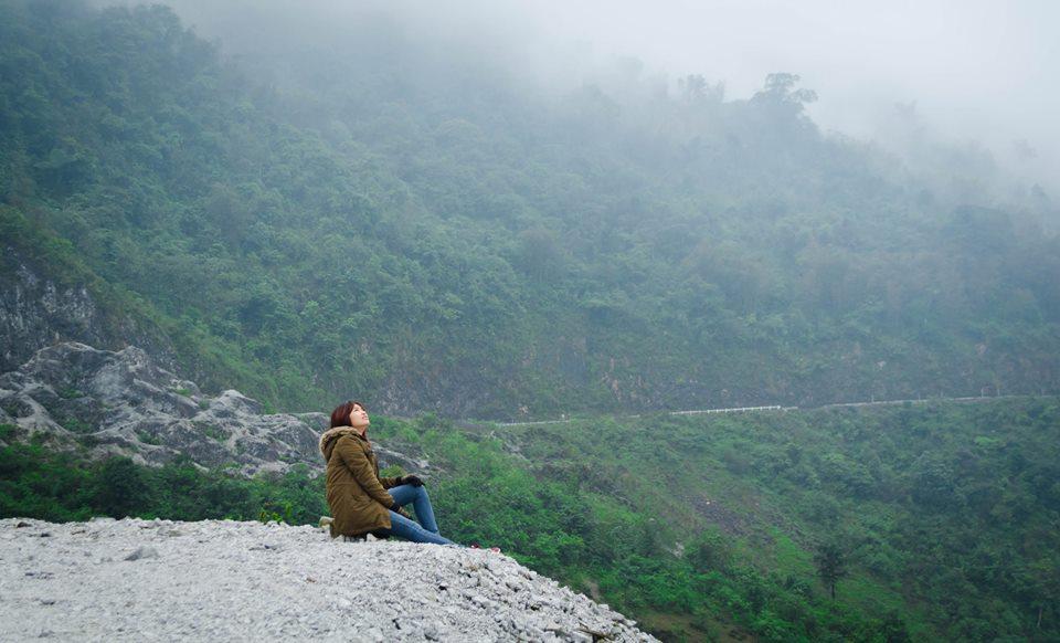 Góc check in sống ảo trên đèo Thung Khe